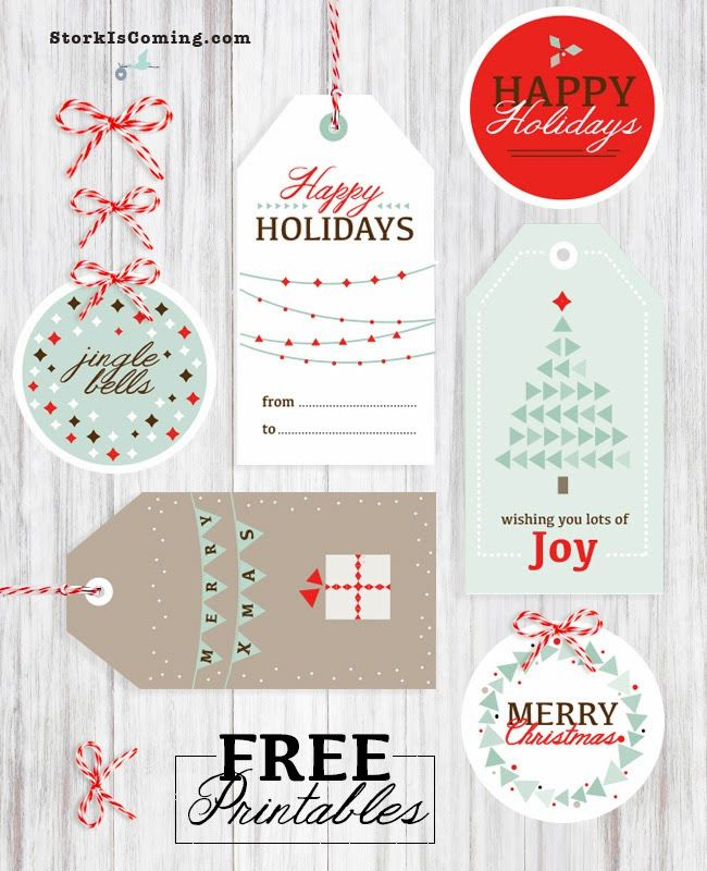 photo regarding Christmas Tag Free Printable named Totally free Printable Xmas Tags 1st 10